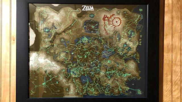 Un jugador convierte su progreso de Zelda: Breath of the Wild en un cuadro