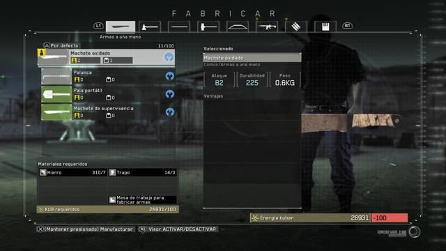 Armas de Metal Gear Survive