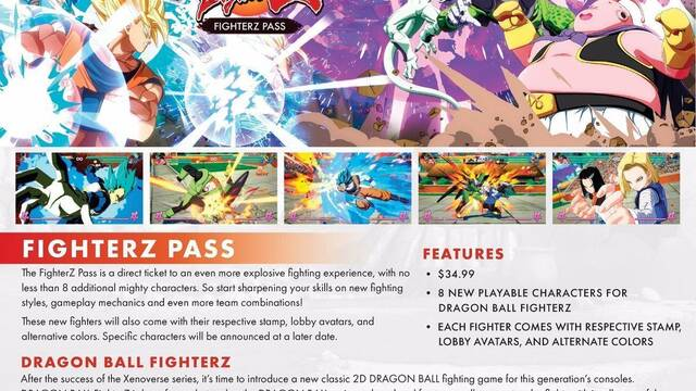 Todo el Contenido descargable (DLC) de Dragon Ball FighterZ