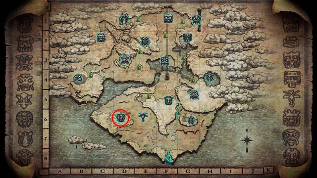 Localización del coloso 6. Barba en Shadow of the Colossus PS4