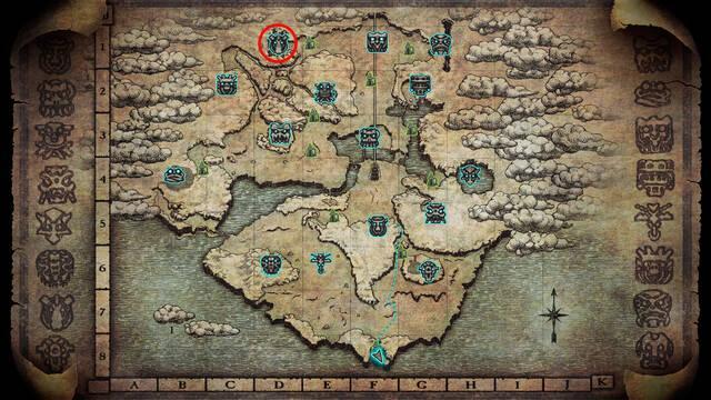 Localización del coloso 7. Hydrus en Shadow of the Colossus PS4
