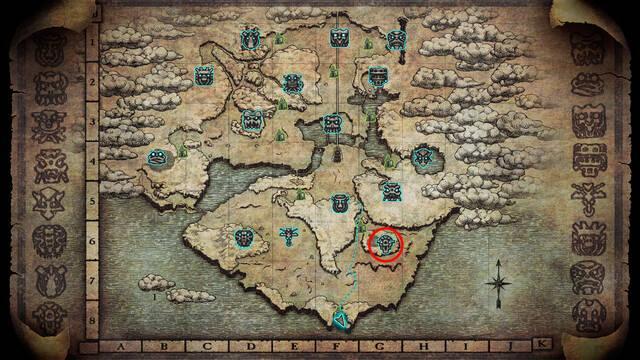 Localización del coloso 8. Kuromori en Shadow of the Colossus PS4