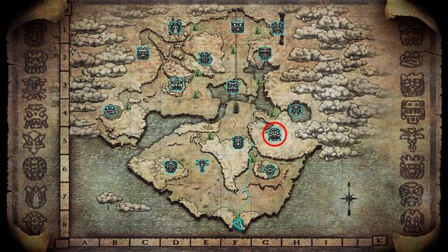 Localización del coloso 4. Phaedra en Shadow of the Colossus PS4