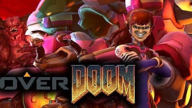 OverDoom, el mod que te permite jugar con D.Va en el Doom clásico