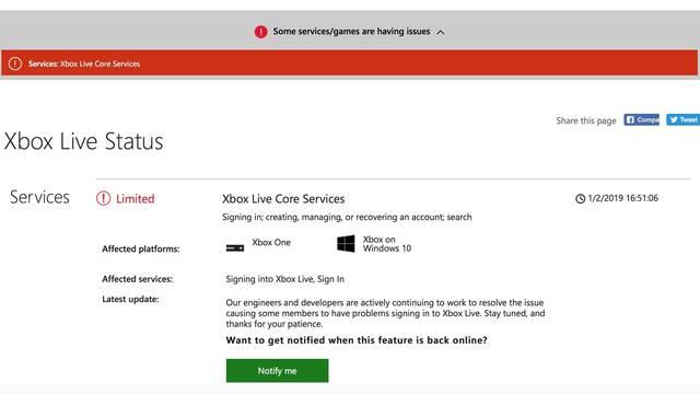 Xbox Live vuelve a experimentar problemas de conexión: Ya está solucionado