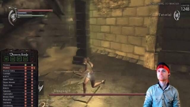 El jefe del tutorial de Demon's Souls estropea la hazaña de un streamer