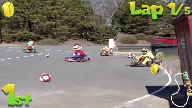 Un piloto de NASCAR crea su propia carrera de Mario Kart