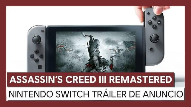 Assassin's Creed III Remastered llegará el 21 de mayo a Nintendo Switch