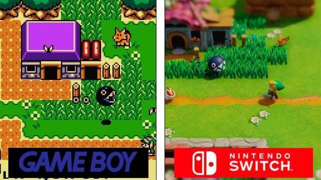 Comparan los gráficos del remake de Zelda: Link's Awakening con el original
