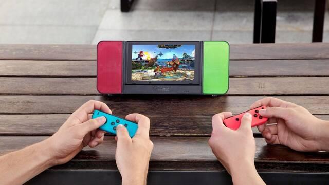 Diseñan un dock portátil con altavoces estéreo para Nintendo Switch