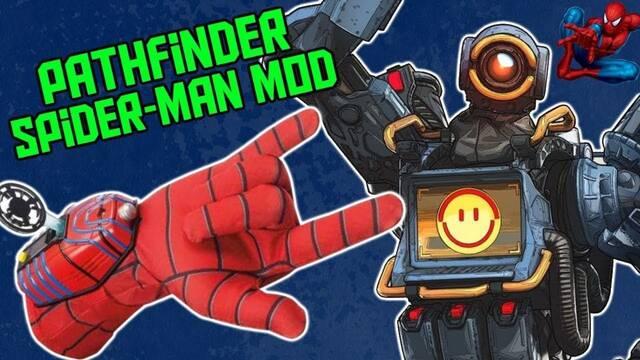 Juegan a Apex Legends con una réplica del lanzaredes de Spider-Man