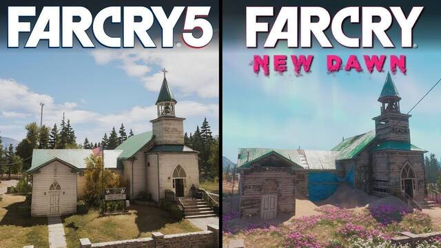 Comparan los gráficos de Far Cry: New Dawn con Far Cry 5