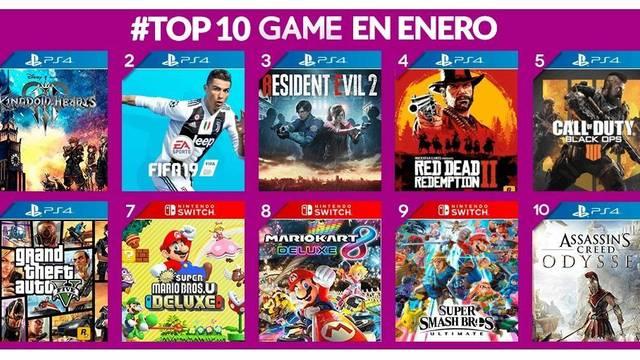 Estos han sido los videojuegos más vendidos en GAME en enero de 2019