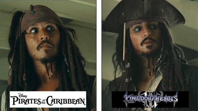 Kingdom Hearts III: Comparan los gráficos del juego con Piratas del Caribe