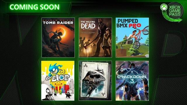 Xbox Game Pass: Shadow of the Tomb Raider, Crackdown 3 y más en febrero