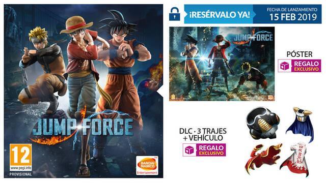 GAME detalla sus ediciones e incentivos de reserva para JUMP Force
