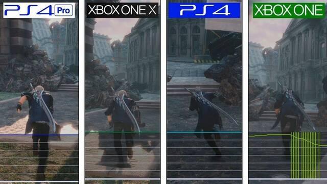 Devil May Cry 5: Comprueban el framerate en todas las consolas