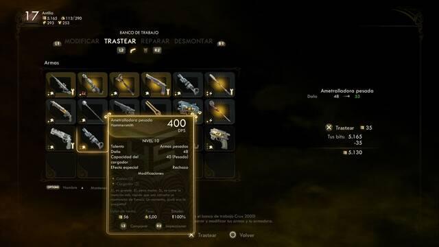 Cómo mejorar armas y armaduras en The Outer Worlds