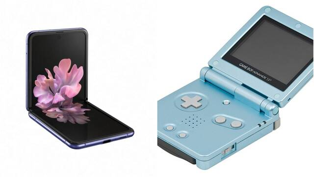 Samsung Galaxy Z Flip Vs. Game Boy Advance SP