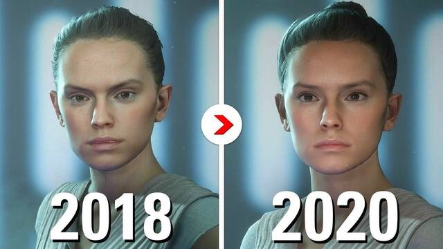 Battlefront 2 ha ido mejorando sus gráficos