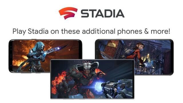 Stadia llegará a nuevos móviles