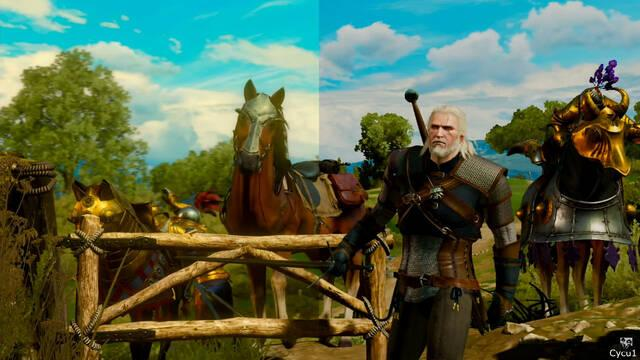 The Witcher 3 comparativa Switch PS4 Pro
