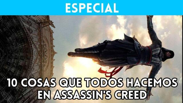 Assassin's Creed 10 cosas que todos hacemos