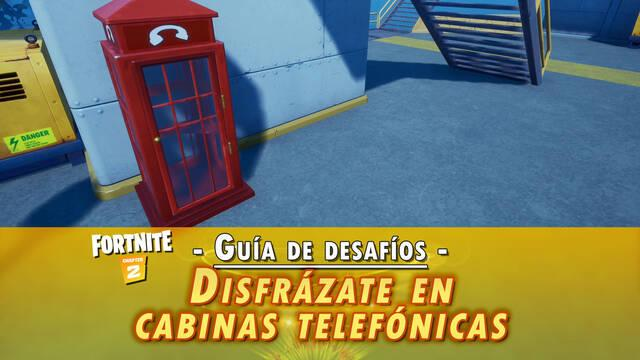 Desafío Fortnite: Disfrázate en cabinas telefónicas - LOCALIZACIÓN