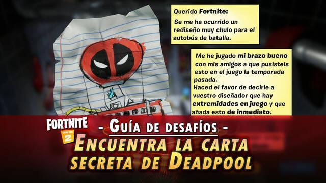 Desafío Fortnite: Encuentra la carta de Deadpool para Epic Games - SOLUCIÓN