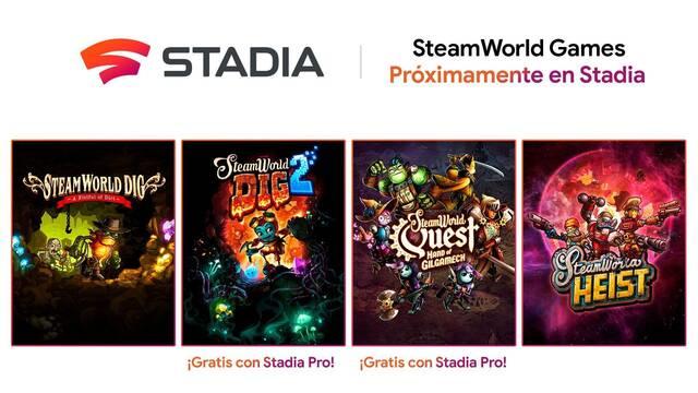 Varios juegos de SteamWorld estarán disponibles en Stadia.