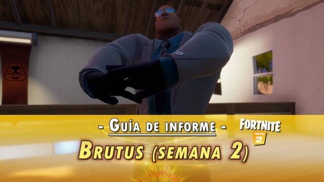 Fortnite: Guía de desafíos Informe de Brutus (Semana 2) - Solución y objetivos