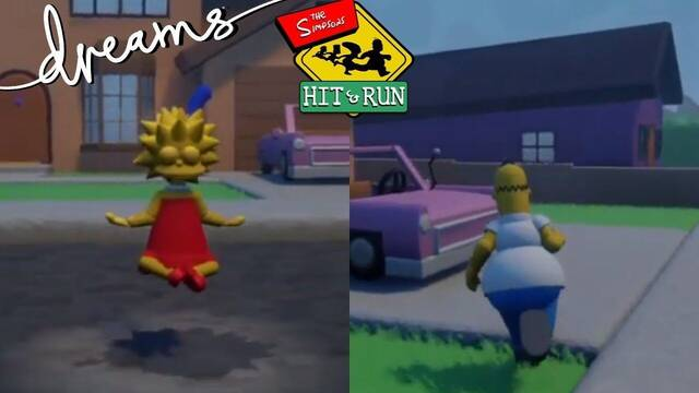 Dreams hace posible The Simpsons: Hit and Run