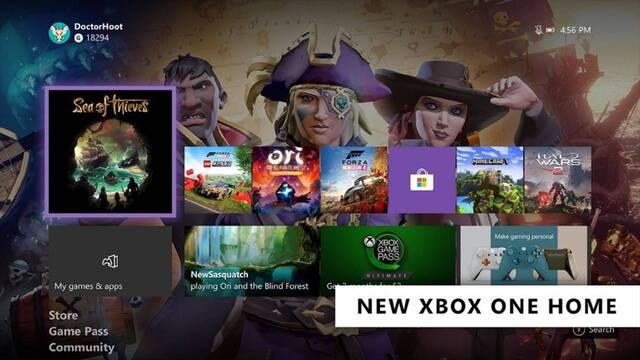 Xbox One nueva interfaz febrero 2020