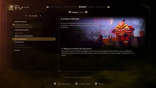 Cómo completar El manual ilustrado en The Outer Worlds