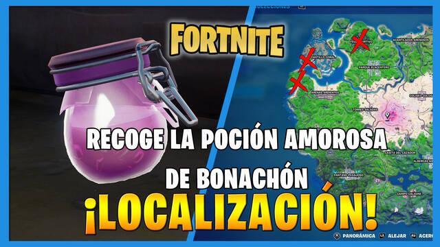 Fortnite: dónde encontrar la poción amorosa de Bonachón