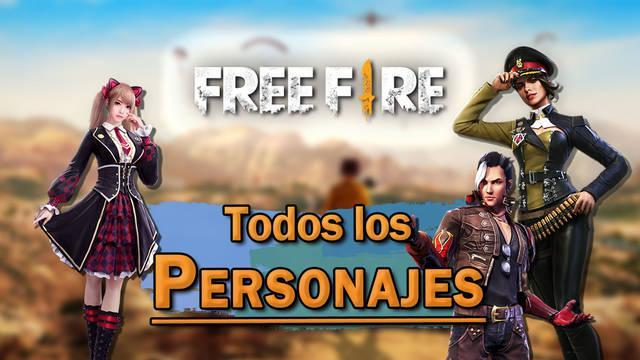 Free Fire: TODOS los Personajes, cómo conseguirlos y habilidades