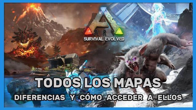 Ark: Survival Evolved - Todos los mapas, diferencias y cómo acceder
