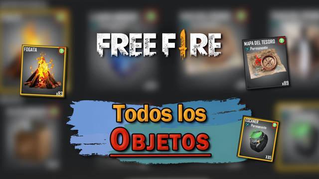 Free Fire: TODOS los Objetos de supervivencia y para qué sirven