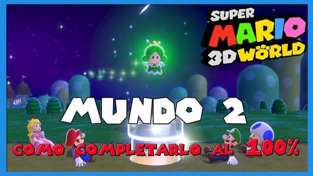 Mundo 2 en Super Mario 3D World al 100%