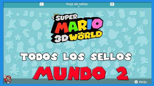Super Mario 3D World: TODOS los sellos del Mundo 2
