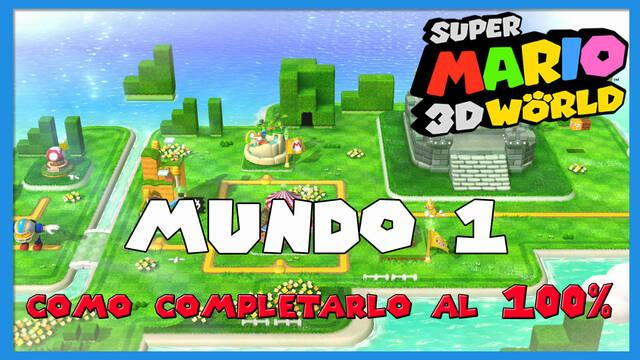 Mundo 1 en Super Mario 3D World al 100%