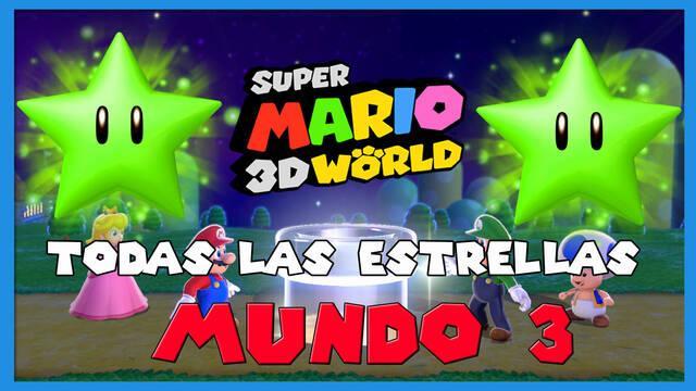 Super Mario 3D World: TODAS las estrellas del Mundo 3