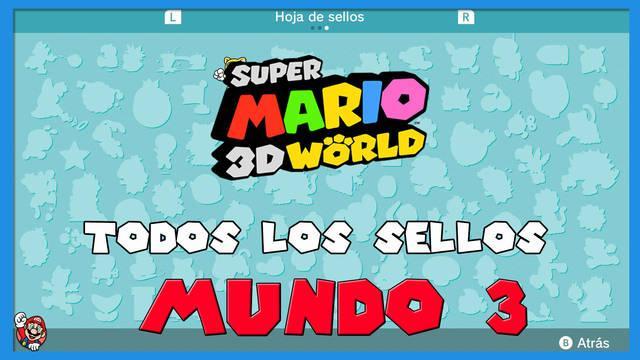 Super Mario 3D World: TODOS los sellos del Mundo 3