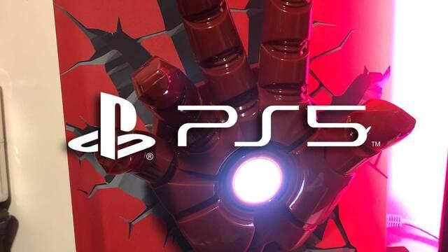 PS5 personalizada al estilo Iron Man.