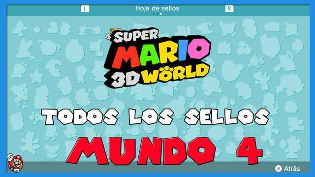 Super Mario 3D World: TODOS los sellos del Mundo 4