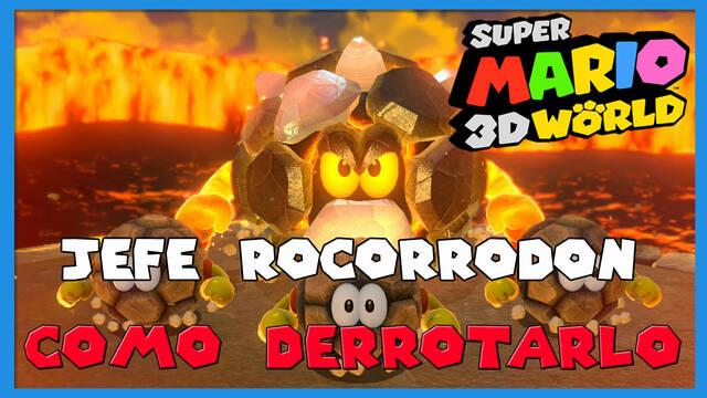 Super Mario 3D World: cómo derrotar a Jefe Rocorrodón