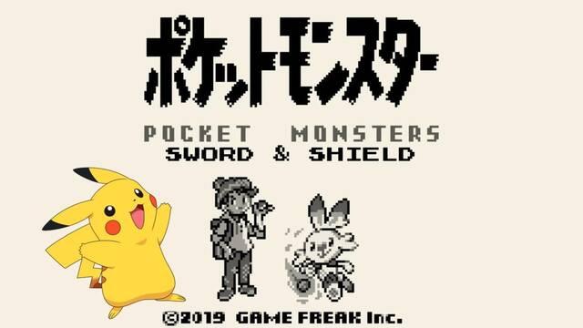 Pokémon Espada y Escudo al estilo Game Boy