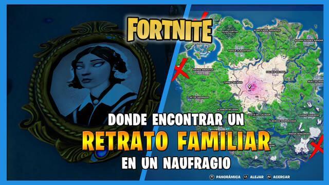 Fortnite - Dónde encontrar el retrato de familia en un naufragio
