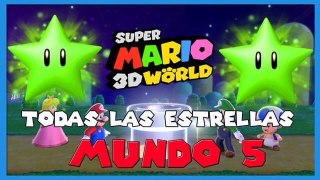 Super Mario 3D World: TODAS las estrellas del Mundo 5