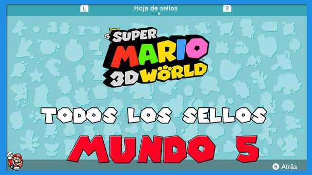 Super Mario 3D World: TODOS los sellos del Mundo 5